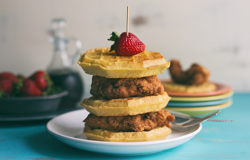 Sweet-and-Crispy Chicken and Waffles