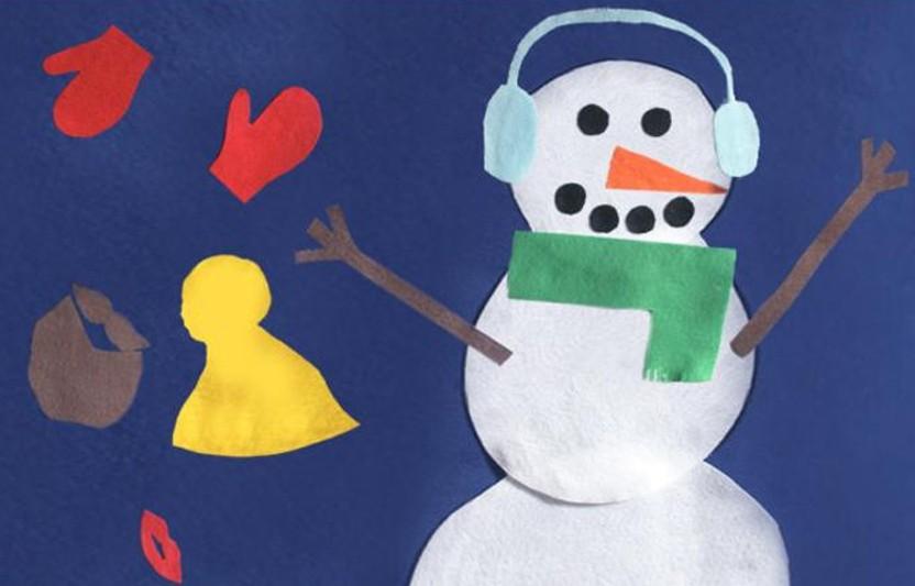 Dress-Up Felt Snowman