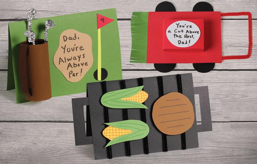 These cute and crafty cards are perfect for the Dad (or Grandpa!) who is master of the golf course, the barbecue, or the lawn.