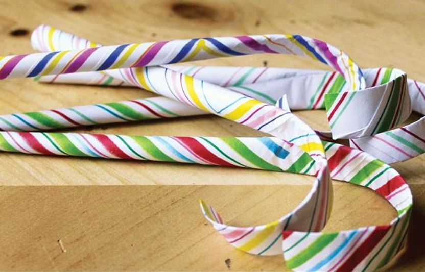 Paper Candy Cane Ornament