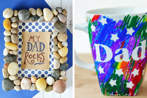 "There's nothing sweeter than a receiving a heartfelt, handmade gift from your kiddos, right? This Father's Day, have your kids surprise Dad with one of these awesome DIY presents that are sure to say ""I love you!"""