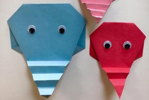 Easy Origami Elephants