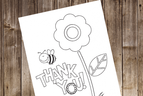 image relating to Printable Thank You Cards for Kids titled Printable Coloring Playing cards Highlights