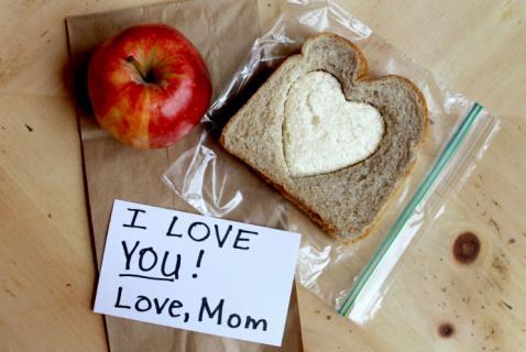 Two toned heart sandwich