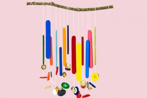 Cute-as-a-Button Wind Chimes