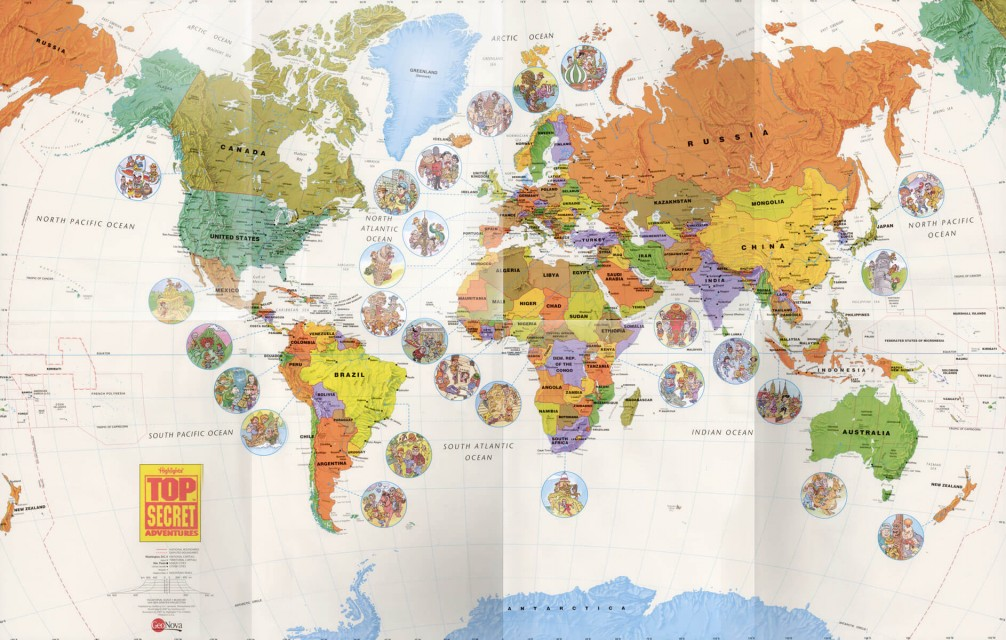 FREE detailed world map