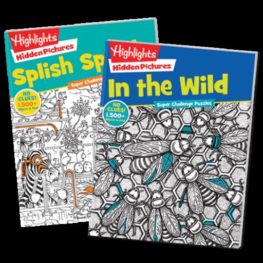Hidden Pictures Super Challenge 2-Book Set: In the Wild and Splish Splash