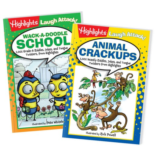 Joke Books: Animal Crack-Ups and Wack-A-Doodle School 2-Book Set