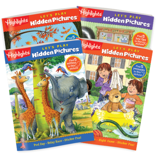 Hidden Pictures LET'S PLAY 4-Book Set