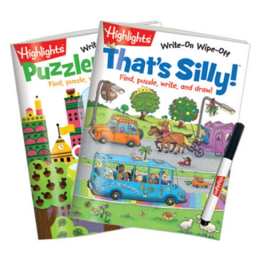 Write-On Wipe-Off: Puzzlemania and That's Silly 2-Book Set
