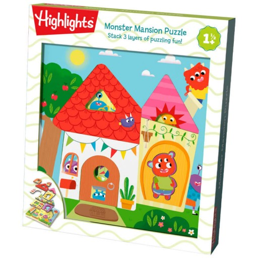 Monster Mansion Wooden Puzzle